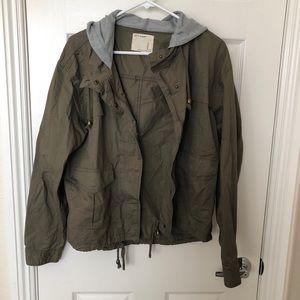 Utility Jacket with hood Size:Large